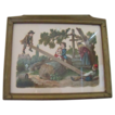 Beautiful Diecut of Children Playing in Vintage Frame