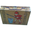 Tin Box Resembling Luggage Decorated  with Working Elves