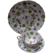 Dessert Set of Chintz China with Violets