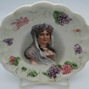 Scalloped plate with Josephine Bonaparte in center