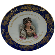 "Advertising Cobalt  and Gold Trimmed Plate ""Josephine Bonaparte"""