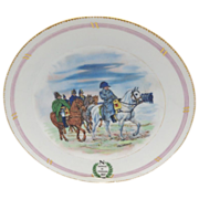 &quot;Napoleon on White Horse&quot; burgundy and gold trim plate