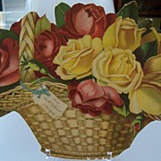Advertising Scrap of Basket of Roses