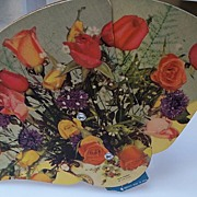 Bouquet of Roses Cardboard Advertising Fan