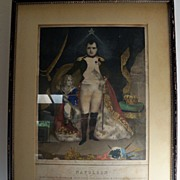 Framed Print of Napoleon Bonaparte and His Son
