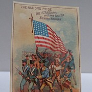 Advertising Trade Card Patriotic Theme Standard Sewing Machine