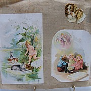 Scraps of Little Children on Linen Page