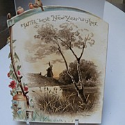 With Best New Year's Wishes Victorian Card