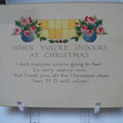 Get Well Christmas Greeting Card