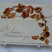 Christmas Card with Brown Vine