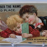 Advertising Trade Card Spencerian Pen Co