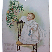 Maud Humphrey December 1899 Calendar Page