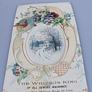 Advertising Trade Card: White Sewing Machine