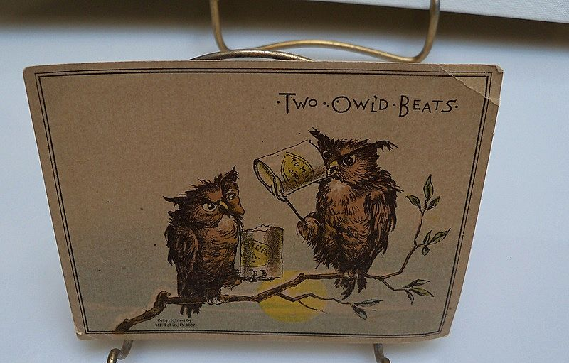 Trade Card &quot;Two Owl'ld Beats