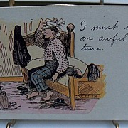 "Postcard ""Man Suffering from a Hangover"""