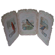 Tri Fold Calendar of Singing Birds  Advertising Singer Sewing