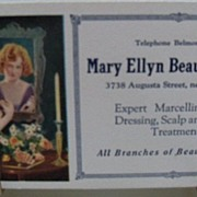 "Ink Blotter ""Mary Ellyn Beaute Shoppe"""