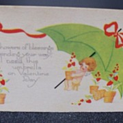 "Postcard Valentine ""Shower of Blessings"""