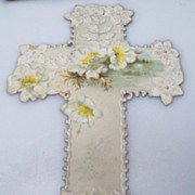 Easter Greeting Figural Cross
