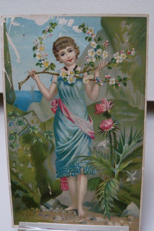 Advertising Giveaway Card with Easter Scene
