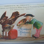 "Advertising Trade Card  ""T. W. Perry"""