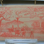 "Advertising Trade Card ""Carter's Nerve Pills"""