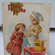 "Advertising Trade Card ""Mapl-Flake Cereal"""