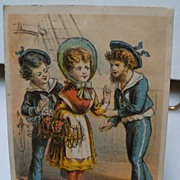 "Advertising Trade Card ""The Baby Pinafore"""