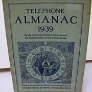 Telephone Almanac 1939 for Bell Telephone Subscribers