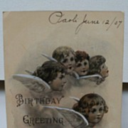 "Postcard Birthday Greetings ""Reynolds Angels"""