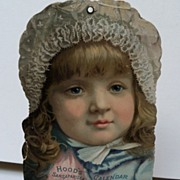 Hood's Sarsaparilla Calendar 1889 with  beautiful little girl