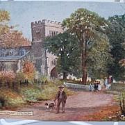 "Postcard Tuck's Oilette ""Picturesque Bucks"" Series II ""Great Missendem Church"""