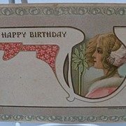 "Postcard ""A Happy Birthday"""