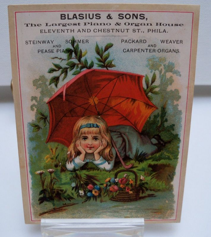 Advertising Trade Card &quot;Piano and Organs&quot;