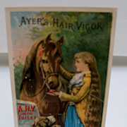 Advertising Trade Card Ayers Hair Vigor