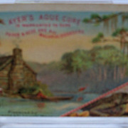 "Advertising Trade Card ""Ayers Ague Cure"""