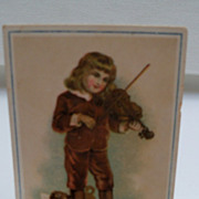 "Advertising Trade Card ""Laurel Soap"" Boy Playing Violin"