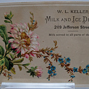 "Advertising Trade Card ""Milk and Ice Depot"""