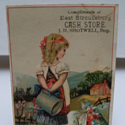 "Advertising Trade Card ""Cash Store"""