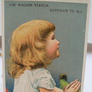 "Advertising Trade Card ""Niagara Starch"""