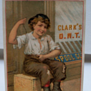 "Advertising Trade Card ""Clark's O.N.T."""