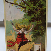 "Advertising Trade Card ""Merrick Threads"""