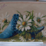 Advertising Giveaway  Card  Shoe with Flowers
