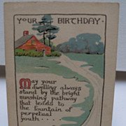 Postcard Birthday Greetings