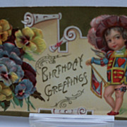 Postcard Embossed Birthday Greeting