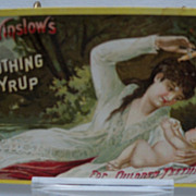 Advertising Trade Card Mrs. Winslow's Soothing Syrup for Teething