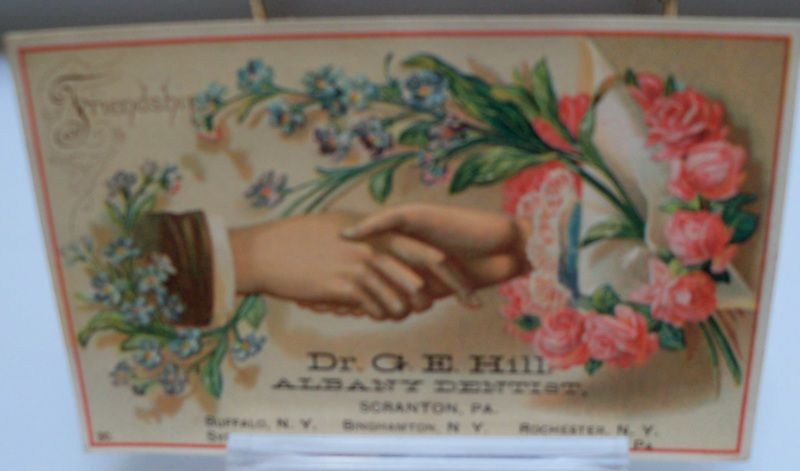 "Advertising Trade Card ""Albany Dentists"" Scranton Pa."