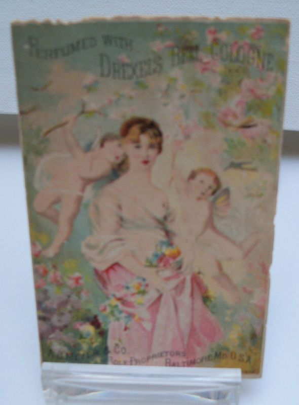 Advertising Trade Card Drexels Bell Cologne
