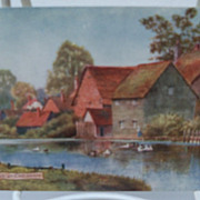 "Postcard Tuck's Oilette ""Picturesque Bucks"" Series II "" River Chess at Chesham"