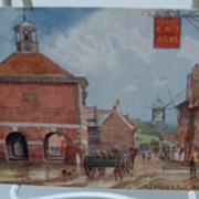 "Postcard Tuck's Oilette ""Picturesque Bucks"" Series II "" Town Hall Amersham"""